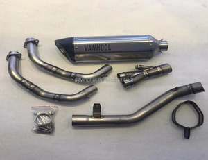 Factory direct selling Titanium carbon fibre performance motorcycle CBR500X exhaust muffler parts