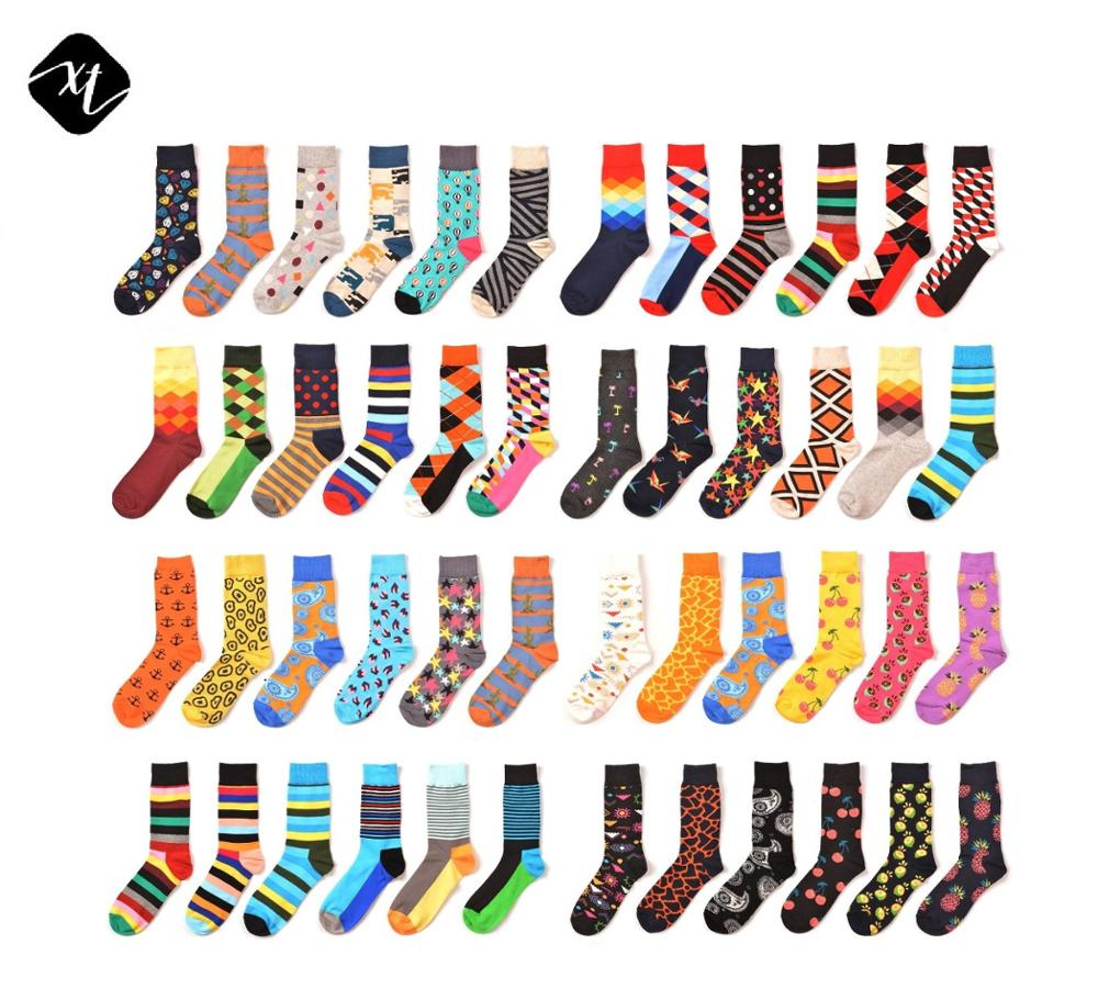 2019 New design wholesale Sweat-Absorbent tube colorful unisex happy socks