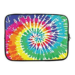 "Grrl Tie Dye Mushroom 15"" 15.4"" 15.6"" Inch Laptop Sleeve Bag for Lenovo, Dell Inspiron, Vostro, Samsung, ASUS UL30, Toshiba Notebook YS060603"