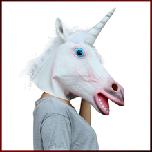 Halloween Francy Dress Party Costume Animal Head Mask Unicorn Cosplay Masquerade