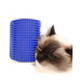 Amazon top seller cat self grooming wall corner groomer massage pet tickling brush comb with catnip