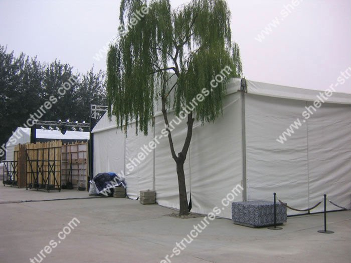USED 15x40m Big flat Tents For Events Manufactured By SHELTER 2008 Beijing Olympic Games Official Supplier