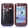 Full Touch Screen Leather Pouch with card shot Case for iphone 6 samsung