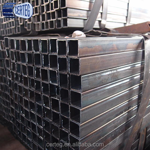 Black Square hollow Big Steel Tube for Automobile Assembly Line