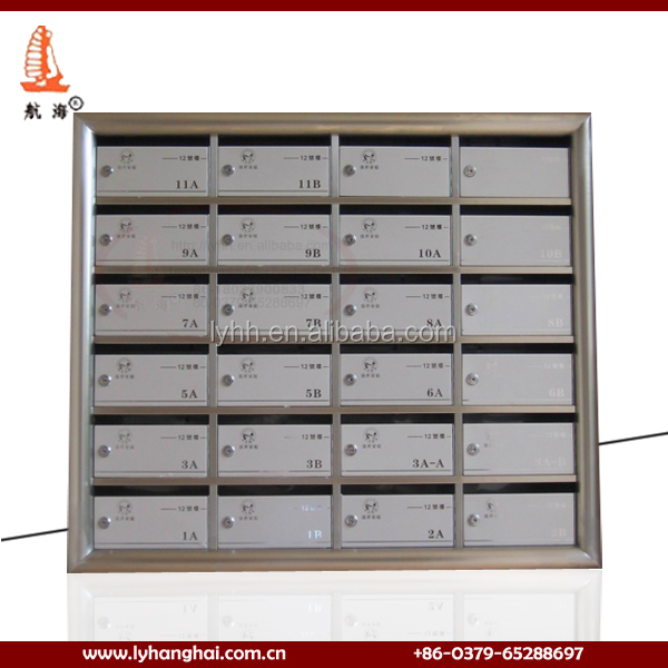 Premium Commercial Apartment Metal Letter Box Inbox Mail Carton Post Office Wall Mount Stainless