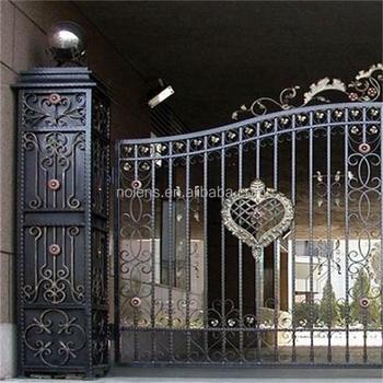 logam gerbang besi tempa/harga tinggi dilindungi keamanan