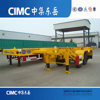 CIMC Dongyue Semi Trailer 40ft Container Transport Skeletal Trailer Chassis