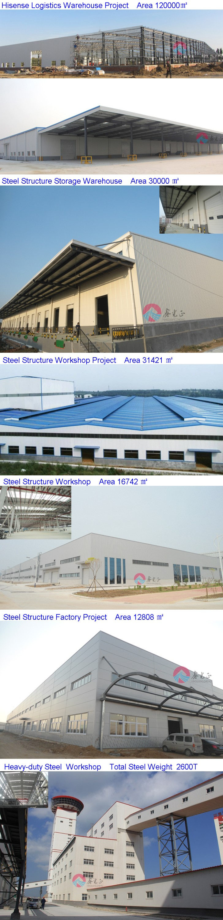 portable durable engineered steel structure warehouse