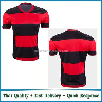 cdaf1ee2e8d7be Red and black soccer jersey latest design football jersey team uniform