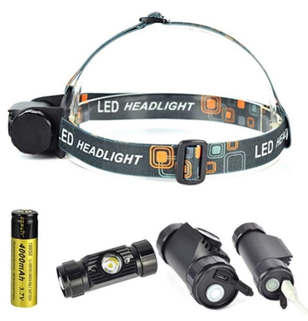 350lm Waterproof LED USB Head lamp Charge 18650 light IR Sensor Torch Flashlight