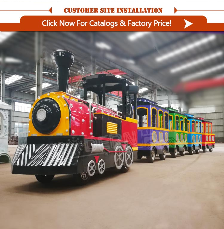 Tourist train kids electric amusement train rides for sale