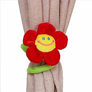 f31adb9fe9b WPKIRA Window Treatments Accessories Cute Cartoon Smiley Sunflower Curtains  Tiebacks Curtain Buckle Hook Fastener Curtain Holdbacks