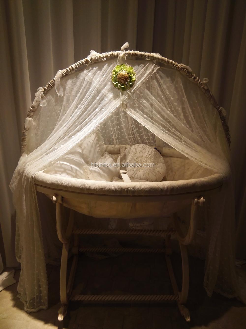 antique ivoire et or couleur en bois balan oire b b berceau lit main de luxe europ ennes. Black Bedroom Furniture Sets. Home Design Ideas