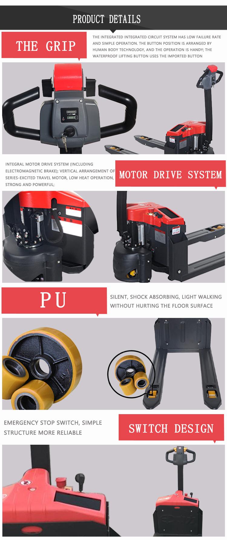 CBD 1.5ton lopen elektrische pallet truck genoemd met dc rijden systeem