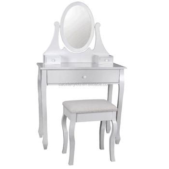 Audacieuse Blanc Miroir Maquillage Ado Fille Commode Meubles De Chambre À DS-56