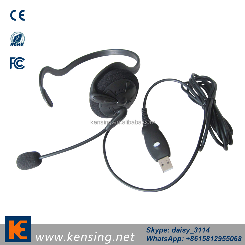 Professional Noise Cancelling Call Center Equipment desk top USB computer headset with mic