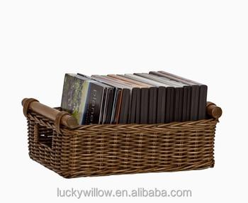 Decorative Wicker Cd Dvd Storage Box