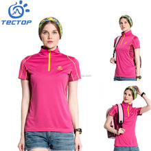 Top Quality Quick Dry O Neck Woman Sport Dry Fit T-Shirt