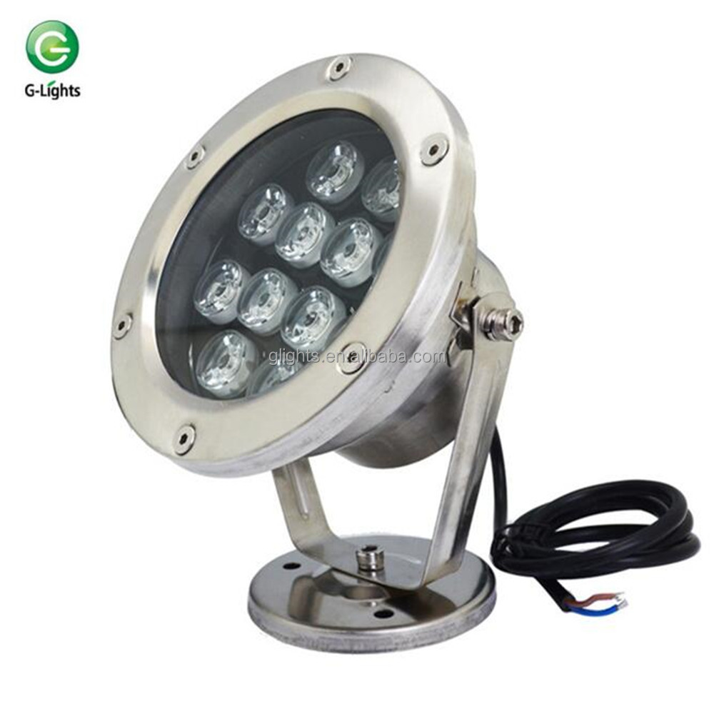 Outdoor waterproof 12V 12W watt dmx rgb led underwater fountain lights