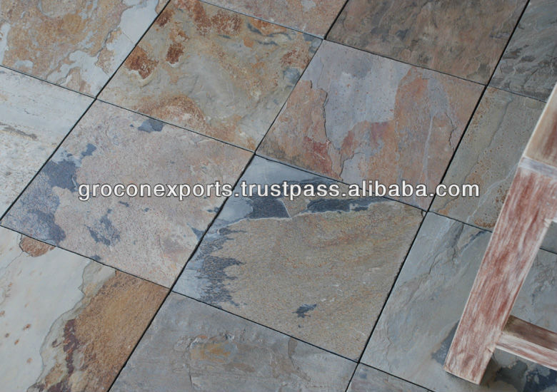 Indian Autumn Slate Tile Slab