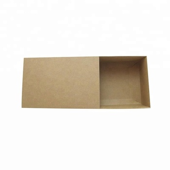 Plain Cheap Brown Kraft Paper Drawer Recycled Paper Packaging Box