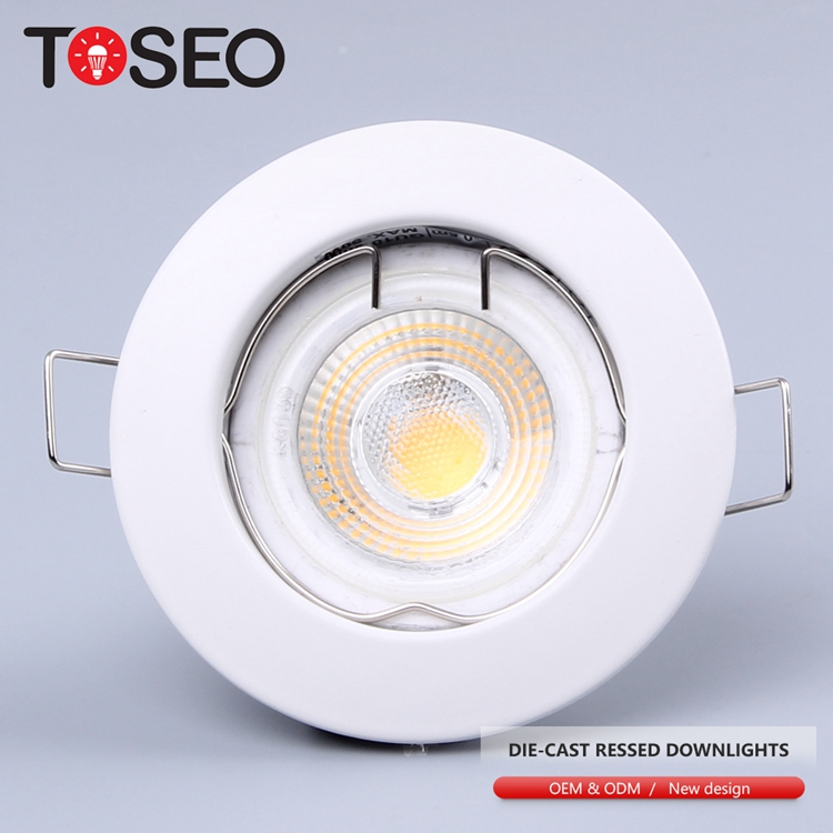 Round gu10 die cast led <strong>downlight</strong> recessed ceiling light led cob spotlight