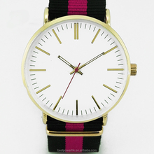ultra slim OEM design watch with nylon strap which is similar with D W watch