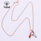 European and American fashion jewelry women's crystal chain accessories diamond jewelry designer necklace custom letter necklace
