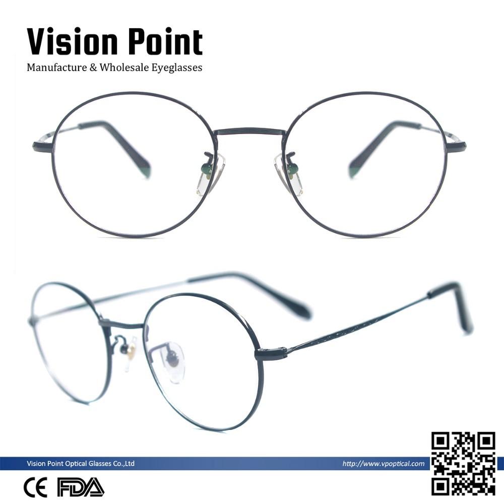 Großhandel Männer Runde Vintage Brillen Retro Titan Brillenfassungen ...