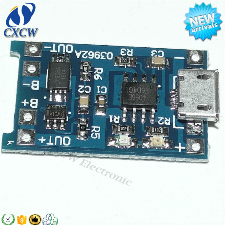 tp4056 charger module 1A pcb battery charger circuit board with micro usb