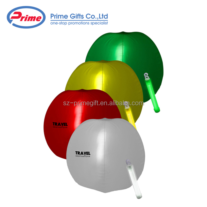 Promotion Inflatable Light up Beach Ball with LED inside for Event