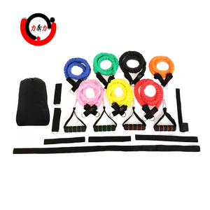High quality resistance bands set with safety sleeve for full body workout