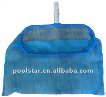 Swimming Pool Accessories Metal And Plastic Leaf Rake P1207 With Aluminium Handle For Cleaning