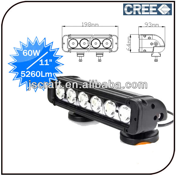 High power 11 inch offroad IP68 <strong>CREE</strong> 60w car led light bar 4x4