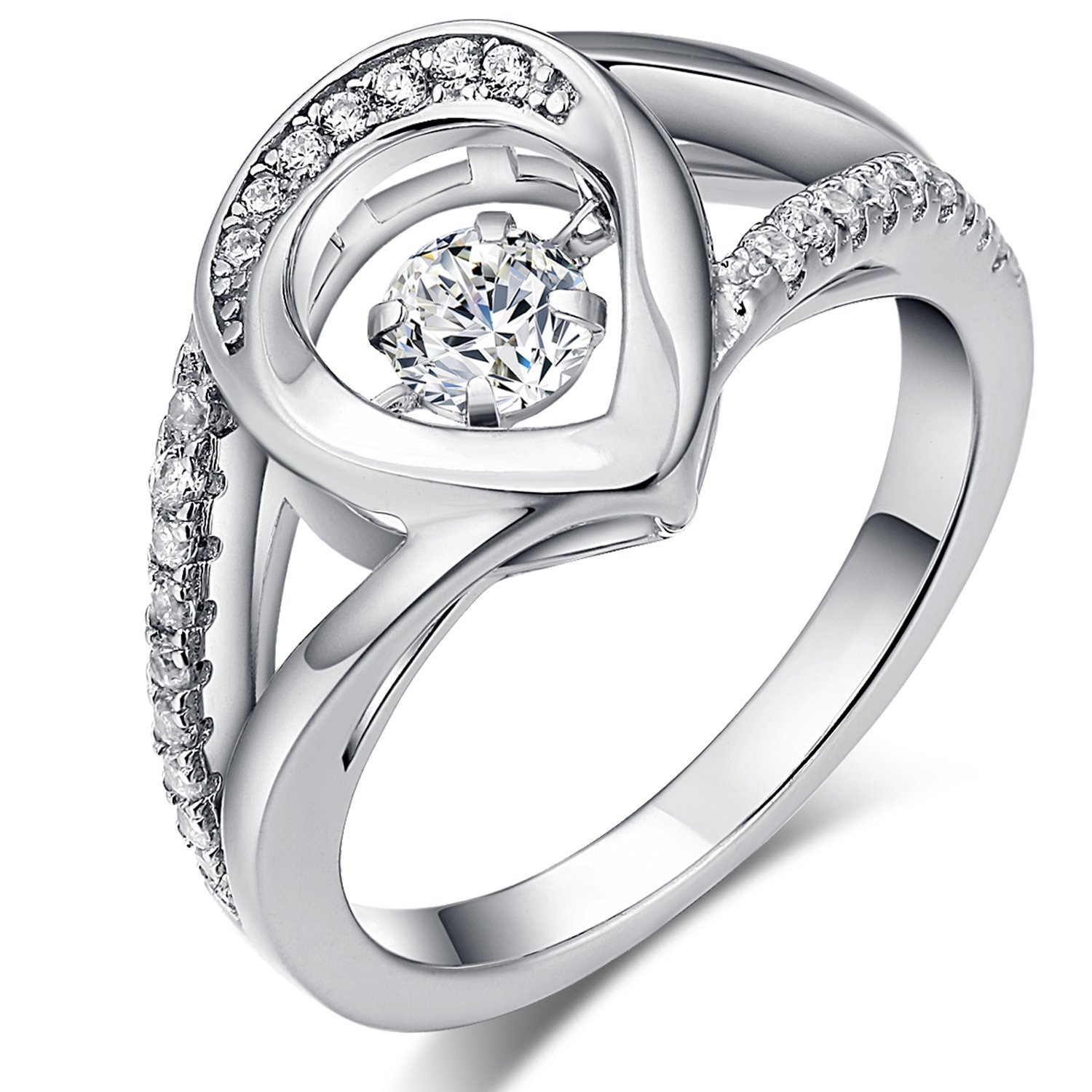 Slyq Jewelry Unique Design Hollow Gold//Silver Color Punk Women cubic zirconia engagement rings