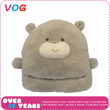 Customize wholesale winter cute cartoon animal shape soft plush foot warmer