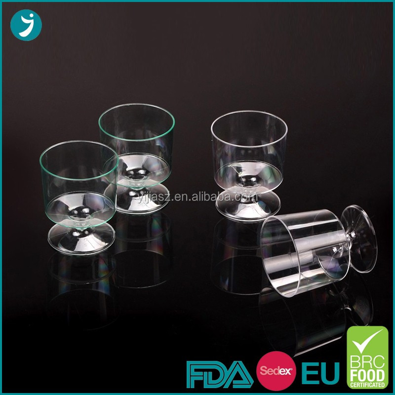 Professional Customized Ps Plastic Wine Glasses Disposable