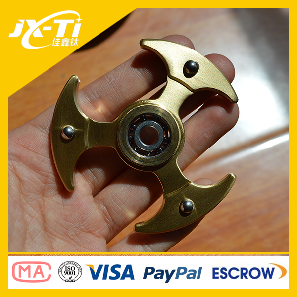 Wholesale Brass hand spinner EDC fidget spinner with r 606 hybrid ceramic <strong>bearing</strong>