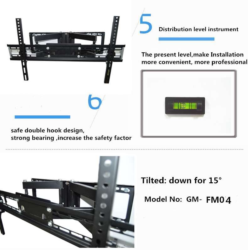 Articulating Dual Arms Motorized Corner Tv Wall Mount