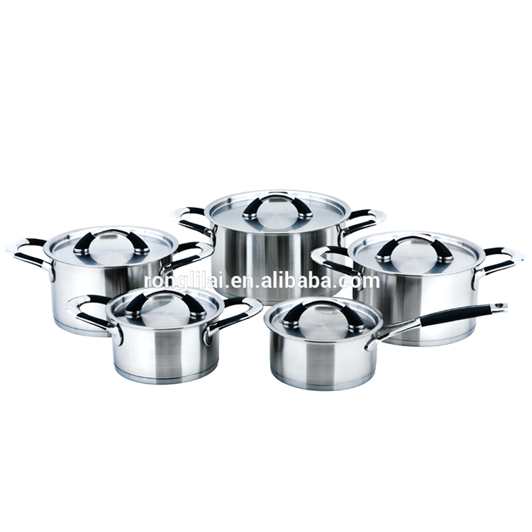 Hot design 10 pcs stainless steel cookware set