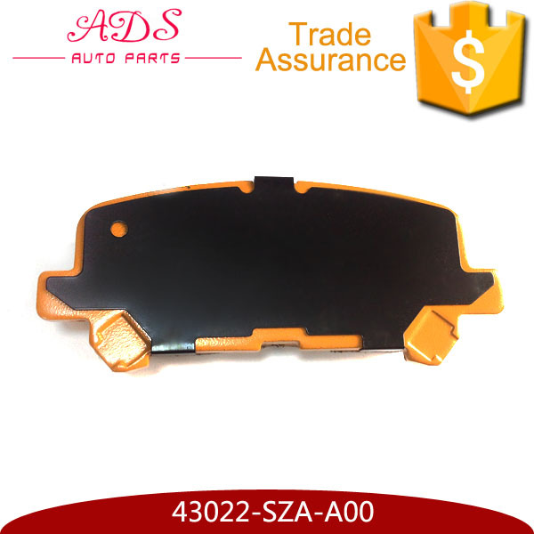 Quality Brake Pad Made in Japan for Pilot OEM: 43022-SZA-A00