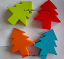 new design christmas tree door stopper made of silicone rubbeer
