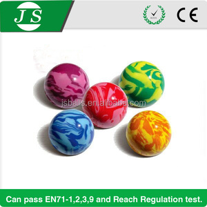 Super quality new arrival bouncing rubber ball with marble colors