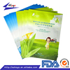 Beautiful Portable Color Customized Plastic Packaging For Girl's Facial Mask Three Side Sealed Bag/.