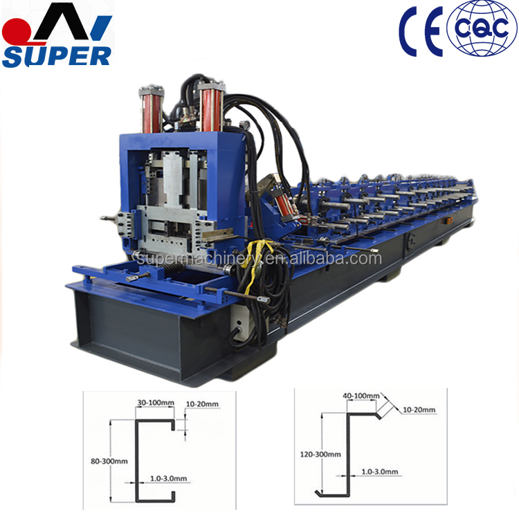 Steel Structure House C Z Purlin Roll Forming Machine