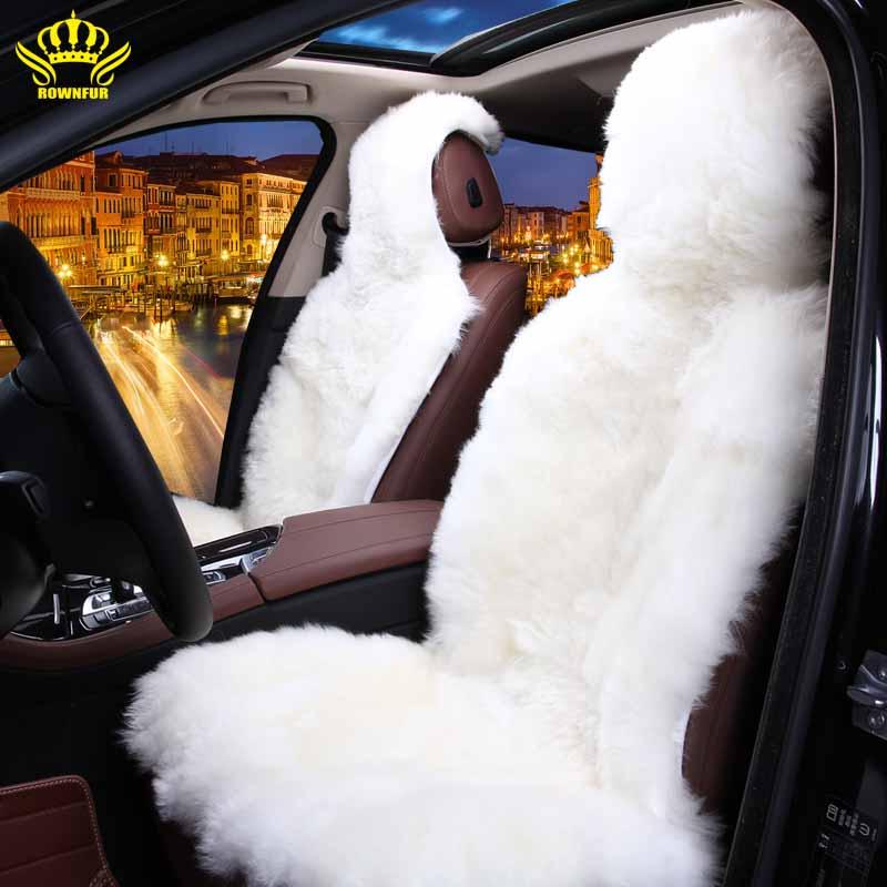 100 Genuine Australian Sheepskin Fur Front Seat For Car