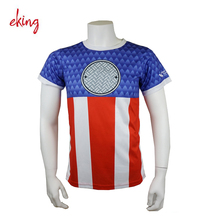 custom all over sublimation printing 100 polyester sport t-shirt