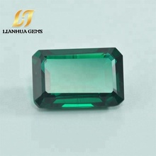 Factory wholesale synthetic green gemstone gems created nano emerald precious stone price