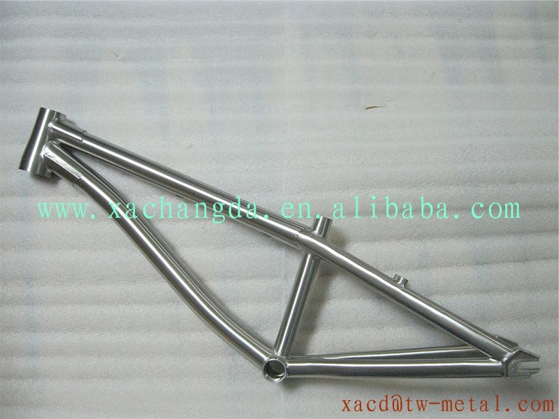 Made in China Titanium BMX bicycle frame with handing brush finishe ...