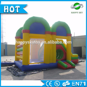 Good price!!!!! juegos inflables, inflatable jumper bouncer with slide for sale 100%PVC material